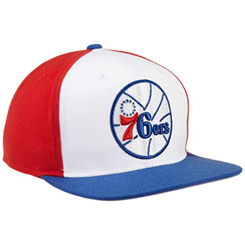 bb3410d64ae adidas NBA Philadelphia 76ers Flat Brim Snapback Hat
