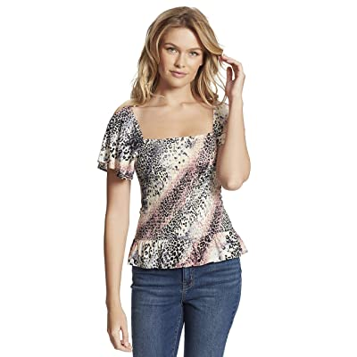 Jessica Simpson Marie Ss Smocked Blouse