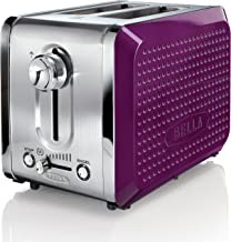 BELLA 13744 Dots Collection 2-Slice Toaster, Purple