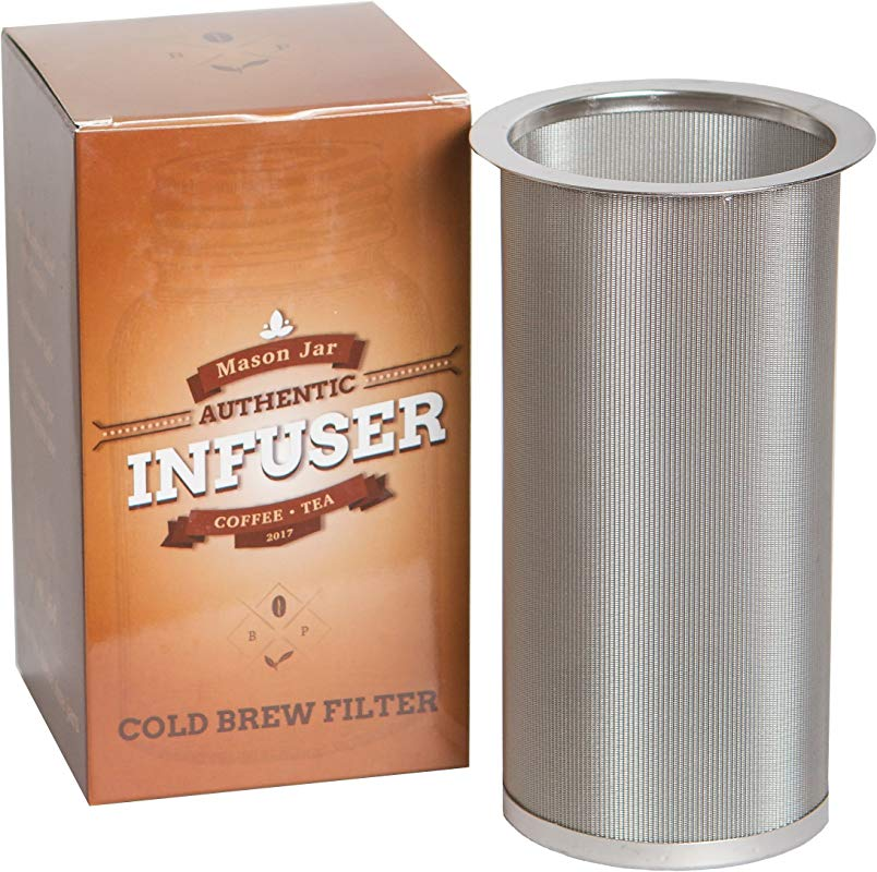 Mason Jar Infuser Cold Brew Coffee Maker Filter Fits Wide Mouth Mason Jars By Bever Products