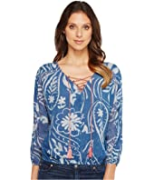 Lucky Brand - Exploded Floral Peasant Top