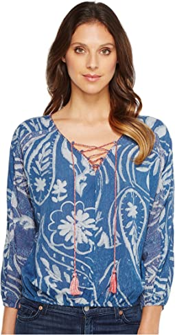 Exploded Floral Peasant Top