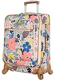 Luggage Carry On Expandable Design Pattern Suitcase For Woman With Spinner Wheels (Trop Pineapple, 20in)