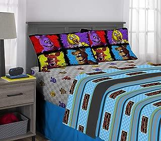 Franco Kids Bedding Super Soft Sheet Set, 4 Piece Full Size, Five Nights at Freddy's