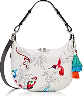 Desigual PU Shoulder Bag, Handbag Femme, Blanc, Taille unique