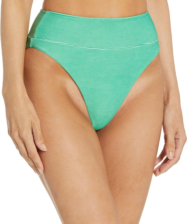 RVCA Women's Standard Salt Wash High Rise Bikini Bottom
