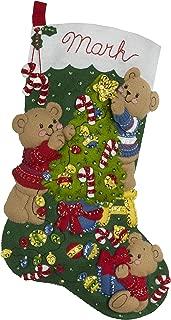 Bucilla 86973E Felt Stocking KIT FAMIL, Bear Family Christmas
