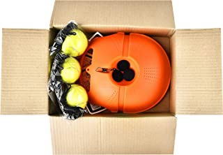 WHIZZ Tennis Self Training Tool (Base + 3 Balls)│Anti Slippery Tennis Trainer Equipment│Perfect Practice for Beginners to Pros│Kids Tennis Training Set│Solo Tennis Trainer Orange Color