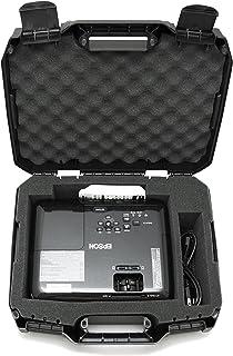 CASEMATIX Projector Travel Case Designed for Epson VS250 SVGA , VS350 XGA , VS355 WXGA Projectors , HDMI Cable and Remote - Custom Foam Compartment and Hard Shell Protection