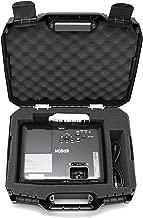 Casematix Projector Travel Case Compatible with Epson VS250 Svga, VS350 xga, VS355 wxga Projectors, Hdmi Cable and Remote with Custom Foam Compartment and Hard Shell Protection