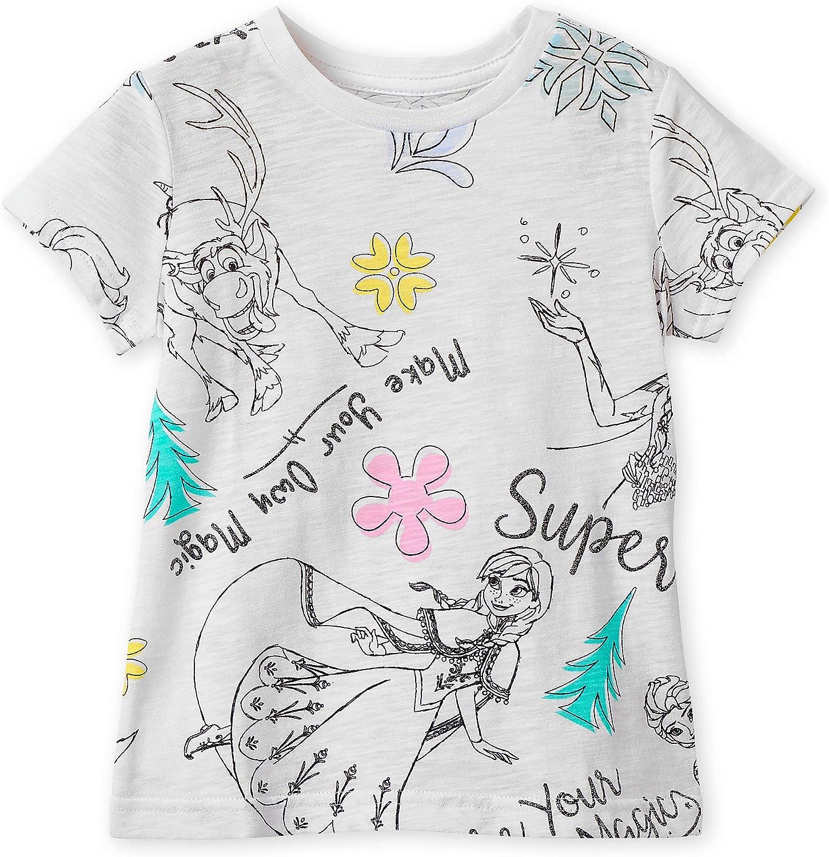Disney Frozen Sketch Art T-Shirt for Girls Multi