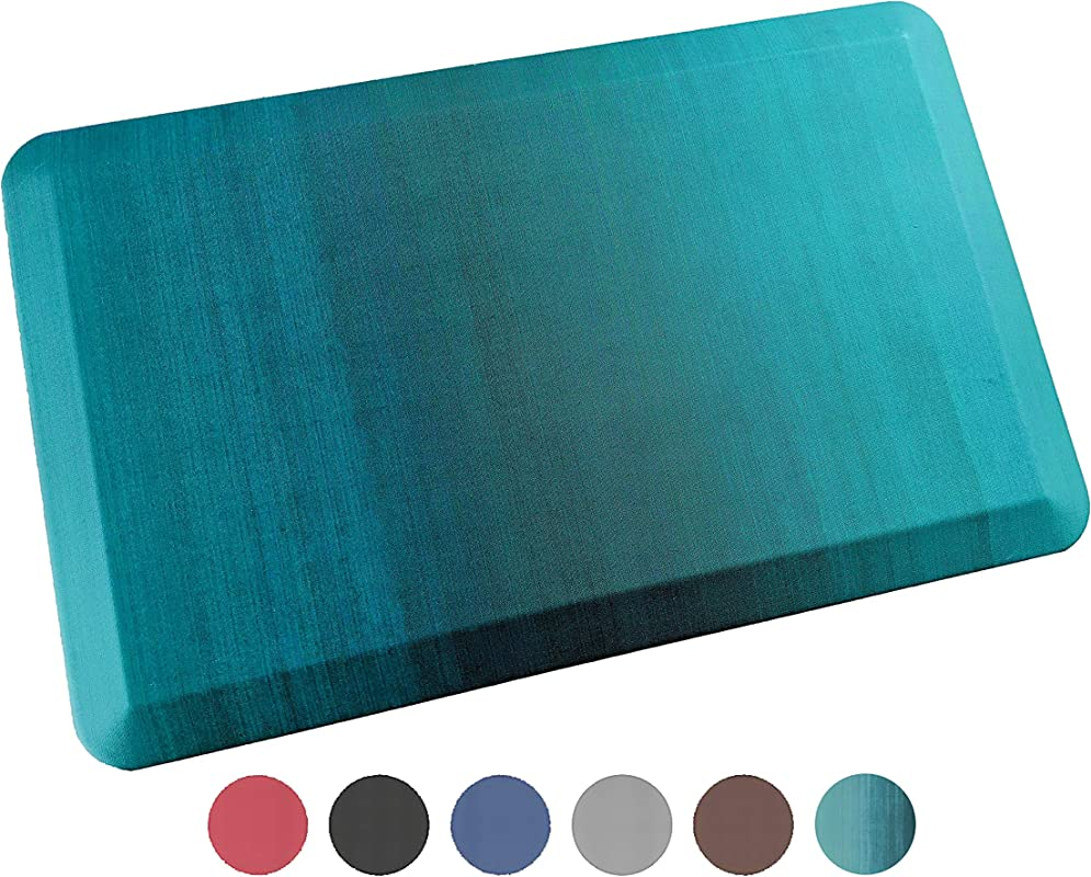 Anti Fatigue Comfort Floor Mat By Sky Mats Commercial Grade Quality Perfect For Standup Desks Kitchens And Garages Relieves Foot Knee And Back Pain 20x39 Inch Green Ombr