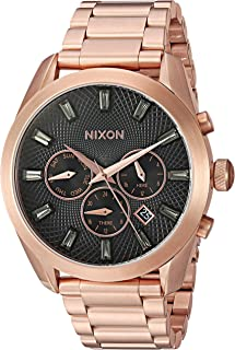 Nixon Women's 'Bullet Chrono Crystal' Quartz Metal and Stainless Steel Watch, Color:Rose Gold-Toned (Model: A9312046-00)