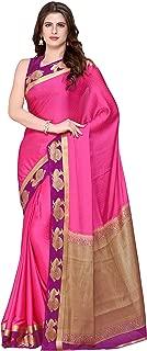 KUPINDA Kanjivaram Style Crepe Saree Color: Pink (4216-2155-2D-WINE-MEJ)