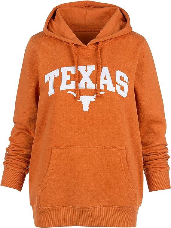 University of Texas Authentic Apparel NCAA Damen Pullover Texas Worn Angry Gew/ölbt