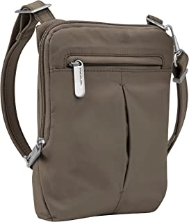 Travelon Anti-Theft Classic Light Mini Crossbody Bag, Mocha