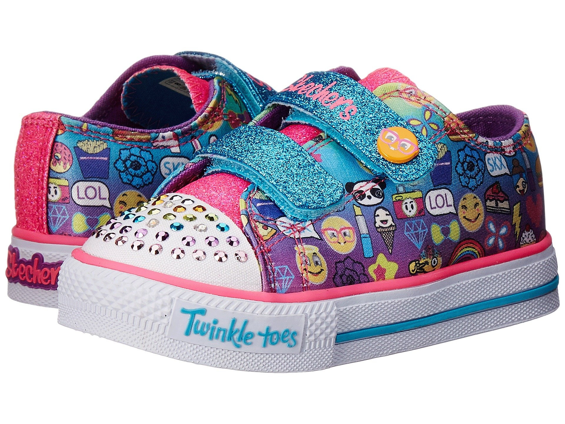 PAIR ...  sc 1 st  6PM.com & SKECHERS KIDS Twinkle Toes-Pixel Time 10680N Lights (Toddler) at 6pm azcodes.com