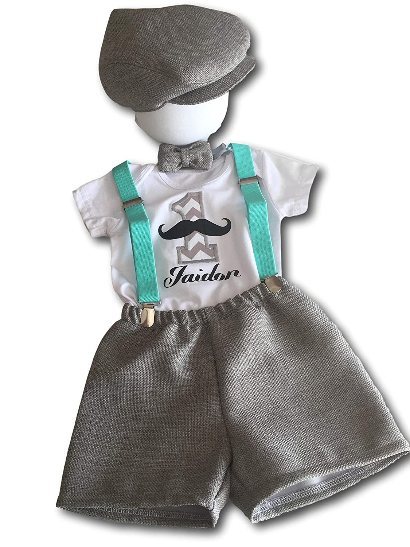 Cake Smash Outfit Boy New item Little Mustache National uniform free shipping Man
