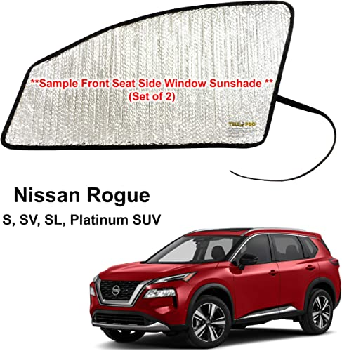 discount YelloPro Side Window Front Seat sale Sunshade (Set of 2) Custom Fit for 2021 Nissan Rogue S, SV, SL, Platinum SUV, UV Reflector Sun Protection wholesale Accessories (Made in USA) outlet online sale