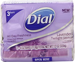 Dial Antibacterial Deodorant Soap Lavender & Twilight Jasmine - 3 CT
