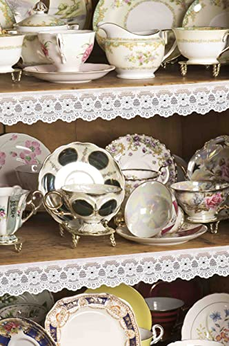 high quality ANTIQUE lowest LACE SHELF lowest ACCENT TRIM - OVER 16 FEET OF LACE! online