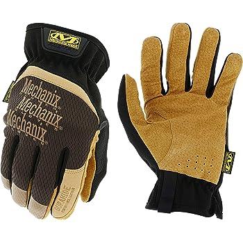Mechanix Wear: DuraHide FastFit Leather Work Gloves (Large, Brown/Black), Model Number: LFF-75-010