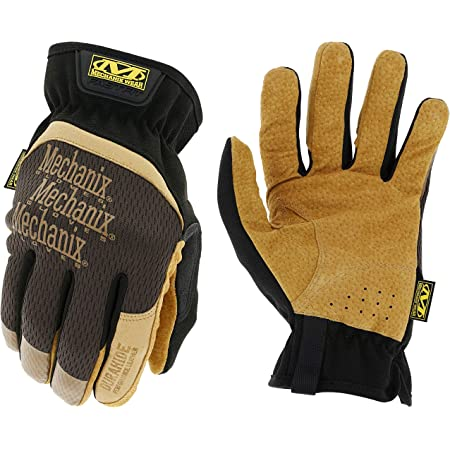 Mechanix Wear: DuraHide FastFit Leather Work Gloves (Medium, Brown/Black)