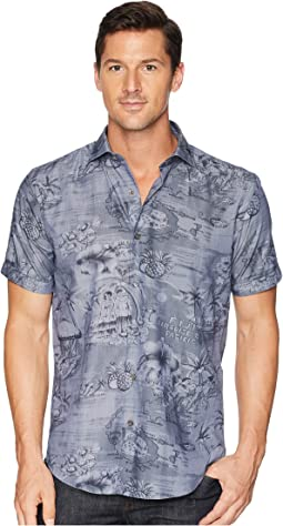 Shaped Fit Paradise Print Woven Shirt