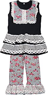 Yawoo Haan Toddler Girls Summer Dress Capri Set Baby 2PCS Clothes