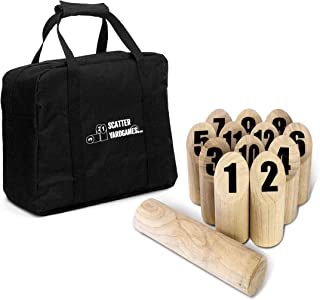 Yard Games Scatter Number Block Tossing Game with Durable Carrying Case and Printed Numbers