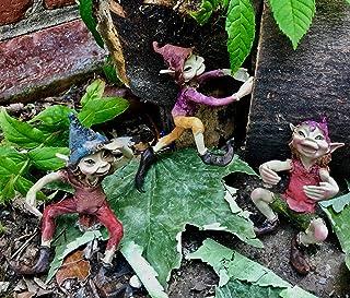 Osiris Trading UK - Juego de tres fabulosas botellas trepadoras Pixies para decoración de jardín, diseño de duende duende: Amazon.es: Hogar