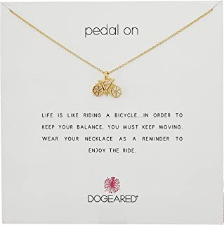 Dogeared Pedal on, Bike Chain Necklace 16