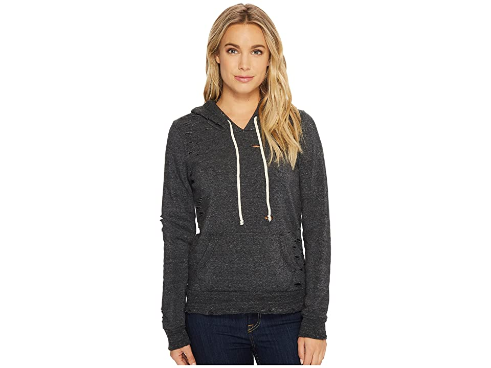 Alternative Super Distressed Athletics Hoodie (Eco Black) Women