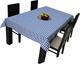 Airwill, 100% Cotton Gingham Checks with Multicolor Combos of 4/6 Seater Tablecloth, Sized 140cm Width and 140cm Length