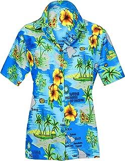 Women's Beach Wedding Hawaiian Shirt Aloha Luau Camp Shirt Hand Tie Dye