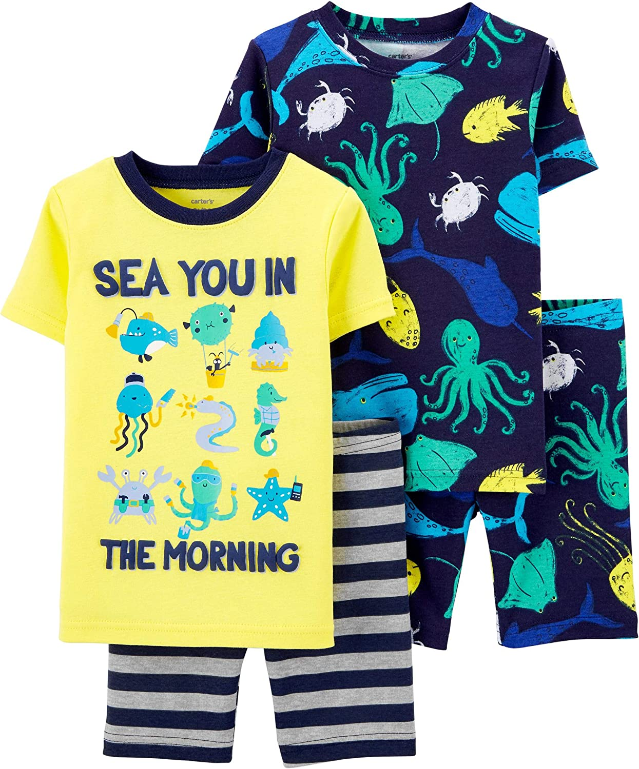 Carter's Boys' 4 Pc Cotton 341g211 (Sea You in the Morning, 2_years)