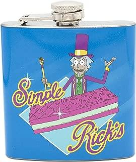 Rick & Morty Simple Rick Flask W/Tin Case