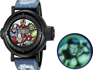 Marvel Boys' Analog-Quartz Watch with Plastic Strap, Blue, 24 (Model: AVG3516