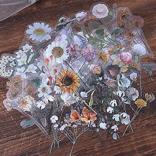 Lychii Autocollants de Scrapbooking, 60pcs Grande Stickers adhésifs décoratifs, Jardin de Monet Série Papier Washi Autocol...