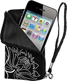 Mumbi Flower Power - Funda universal para móvil, negro