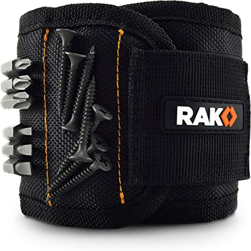 RAK Magnetic Wristband with Strong Magnets for Holding Screws, Nails, Drill Bits - Best Unique Tool Men, DIY Handyman...