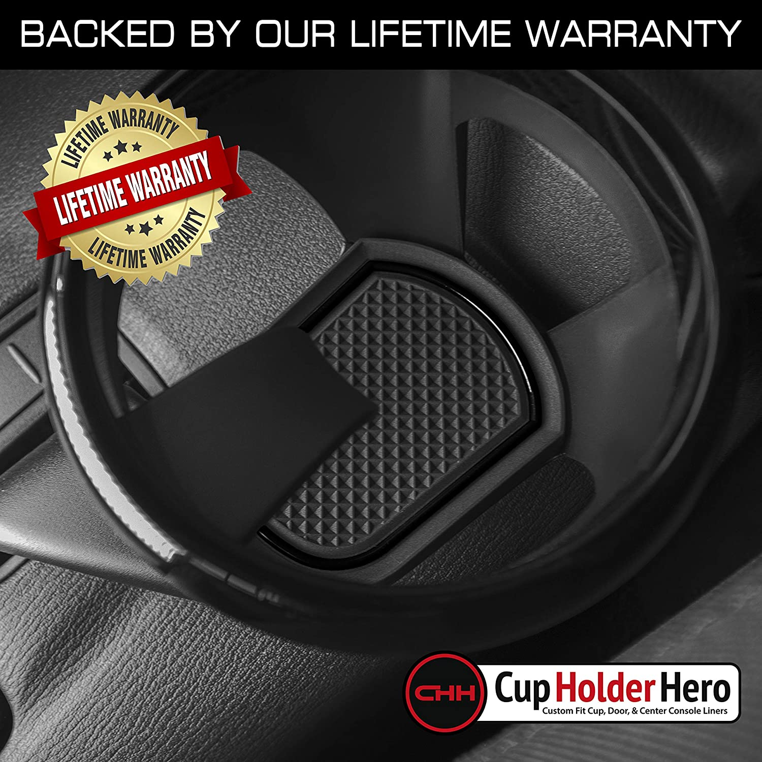 Red Trim CupHolderHero fits Mazda MX-5 Miata and fits Fiat 124 Spider Accessories 2016-2021 Interior Non-Slip Anti Dust Cup Holder Inserts Center Console Liner Mats Door Pocket Liners 7-pc Set