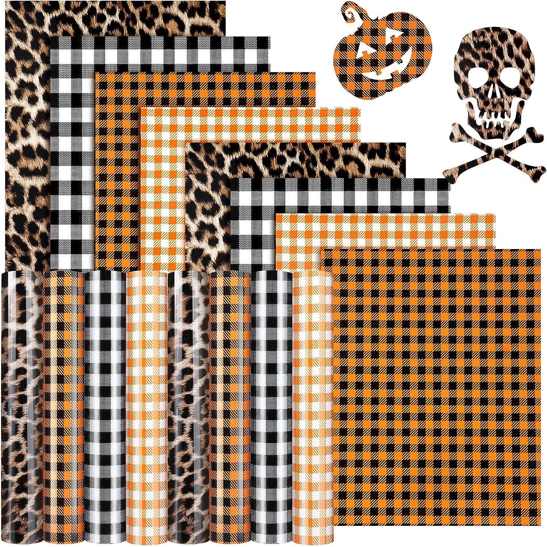 8 40% OFF Cheap Max 49% OFF Sale Sheets Halloween Buffalo Plaid Assorted Fall Vinyl HTV Iron-on