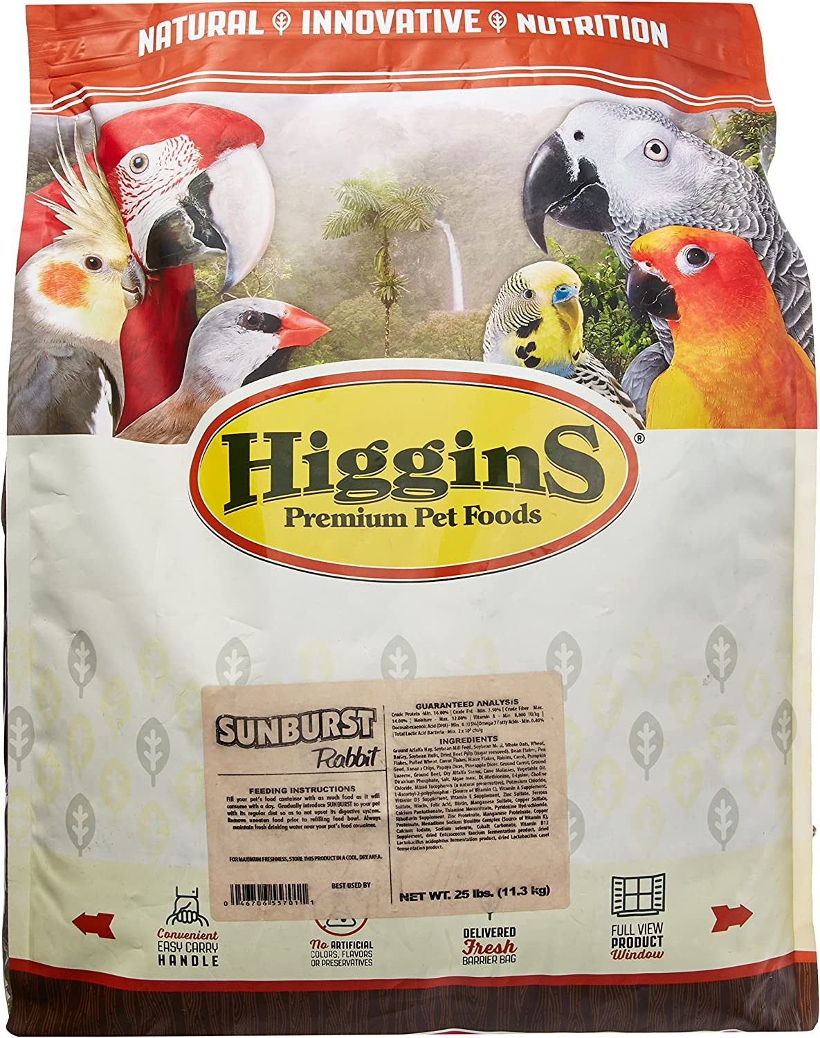 Higgins Sunburst D'Lite Seed Diet for Rabbits and Small Animals