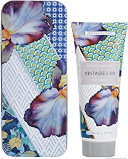 Vintage & Co trecce e fioriture Hand Cream in latta, 100 ml