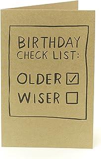 Lustige Geburtstagskarte – Geburtstagskarte für Ihn – Geburtstagskarte Checklist Witz