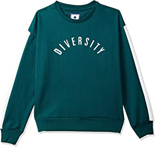 Amazon Brand - Symbol Women's Graphic Regular Fit Long Sleeve Terry Sweatshirt Warm Up Jacket