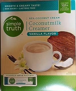 Simple Truth Vanilla Coconutmilk Creamer Singe Serve Packets 2.82 oz (Pack of 3)