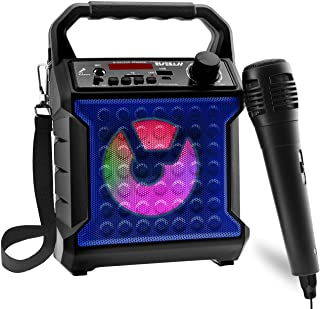 Risebass Portable Karaoke Machine with Microphone - Home Karaoke System with Party Lights for Kids and Adults - Rechargeab...
