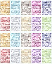 BBTO 20 Sheets Alphabet Letter Stickers 10 Colors Self Adhesive Sticker Colorful PU Material Convex Feeling (Colorful Letter Stickers)